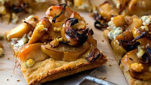 Roasted Apple, Shallot and Cheese Tart
