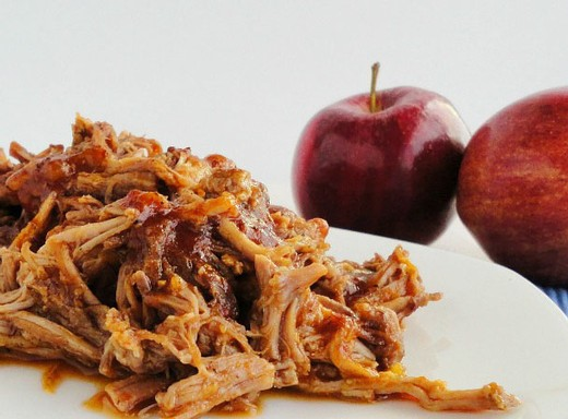 Cider Braised Pulled Pork Roast with Onions and Apples