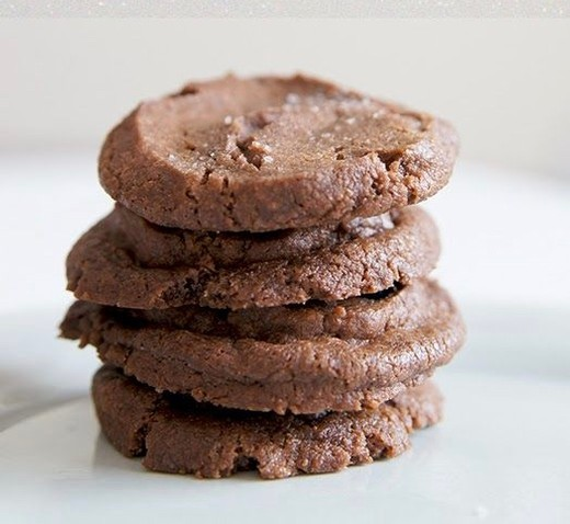 Chocolate Pecan Shortbread Cookies