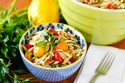 Lemon Orzo Salad with Roasted Tomatoes, Feta and Pine Nuts